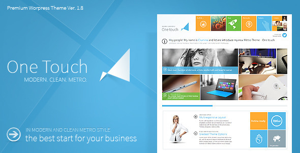 Thème WordPress : One-Touch-Multifunctional-Metro-Stylish-Theme