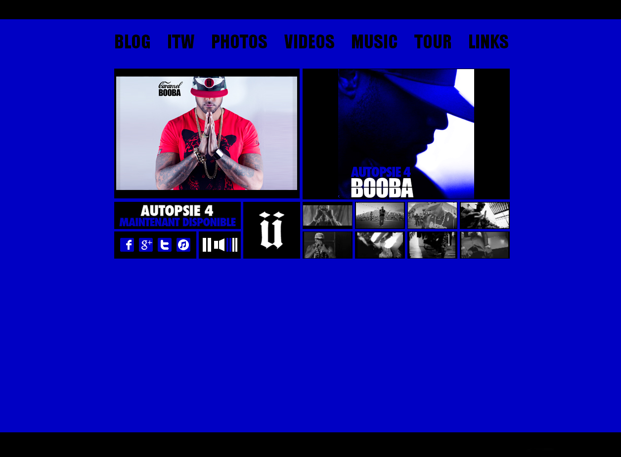 Le site officiel de Booba en WordPress