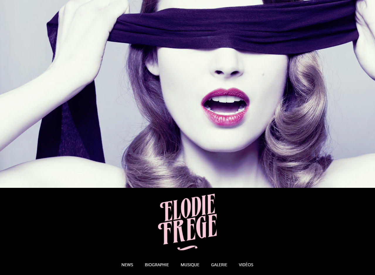 Le site officiel de Elodie Frégé en WordPress