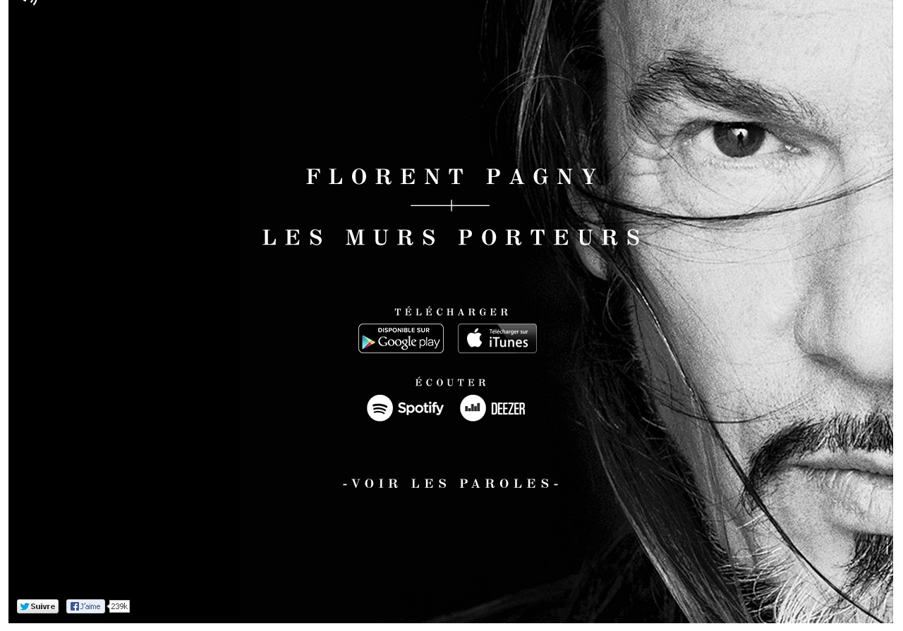 Le site officiel de Florent Pagny en WordPress