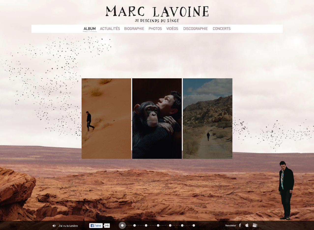 Le site officiel de Marc Lavoine en WordPress