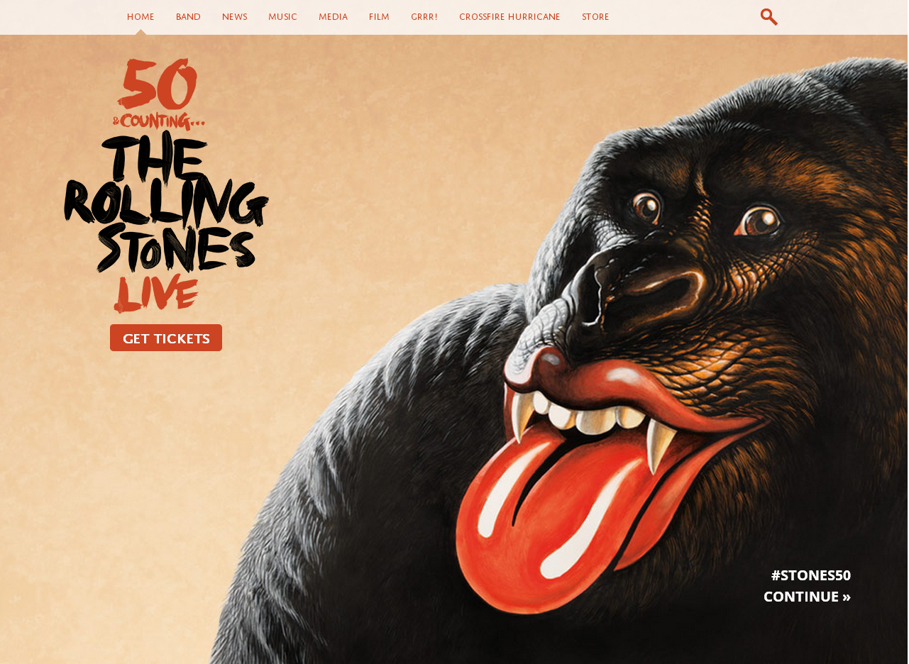 Le site officiel des Rolling Stone en WordPress