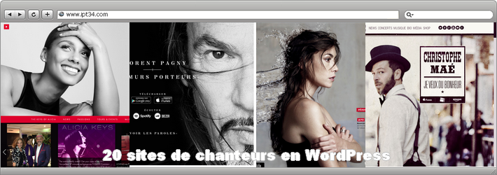 20 sites de chanteurs en WordPress