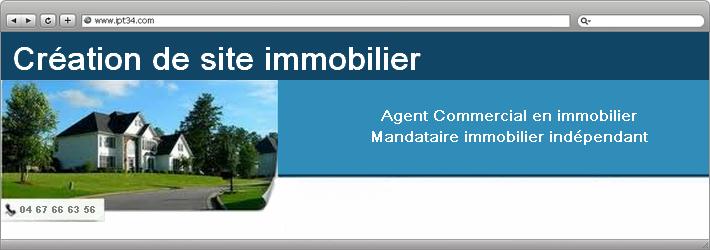 création de site pour mandataire immobilier indépendant