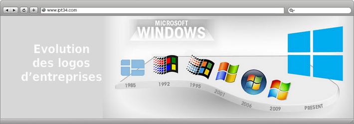Evolution des logos d'entreprises