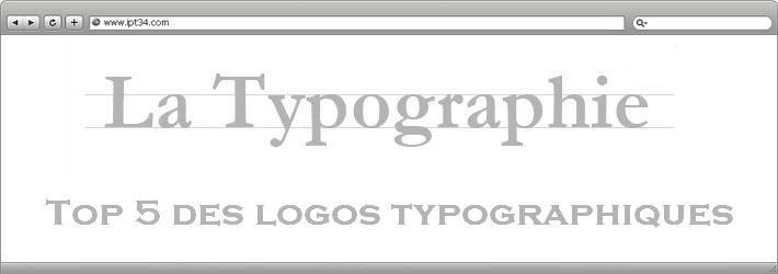 Top 5 des logos typographiques