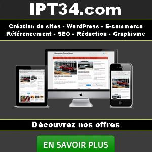 Ipt34 création de site web Montpellier