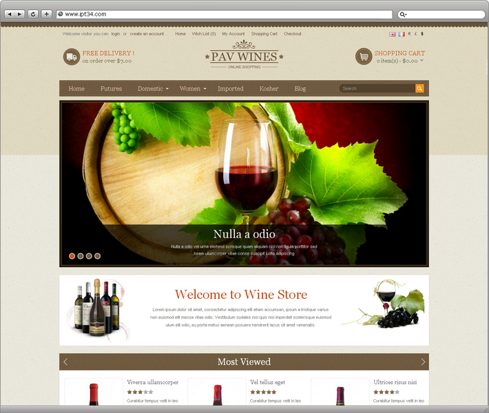 Theme Pav wines
