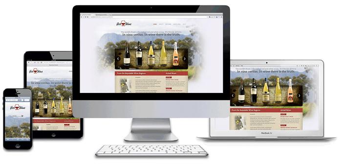 site web pour vigneron