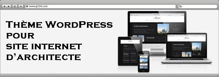 Thème WordPress pour création de site d'architecte