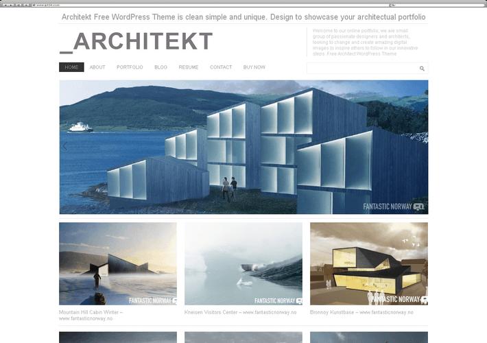 Meilleur Thème WordPress Architekt