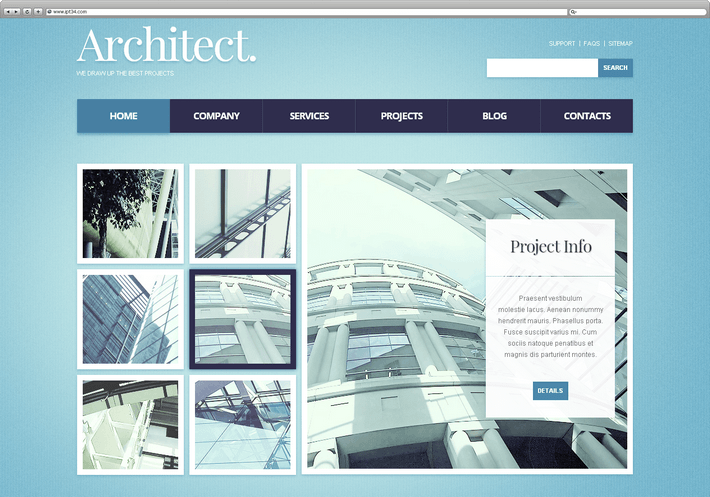 Meilleur Theme WordPress Architect