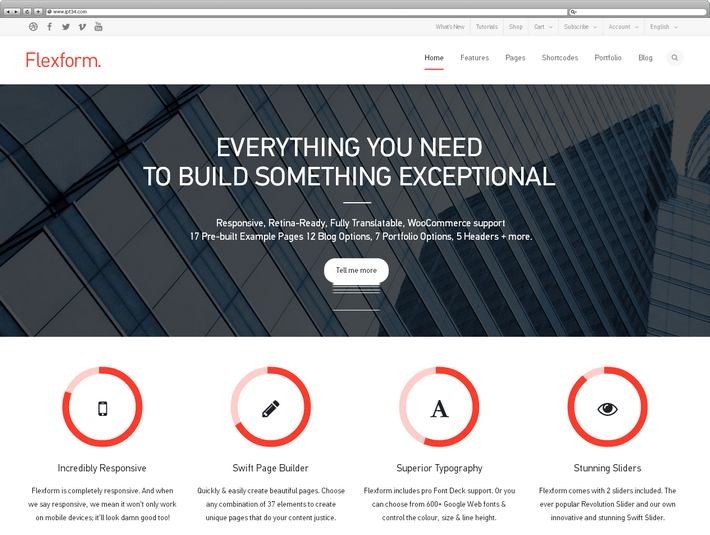 Meilleur Thème WordPress Flexform