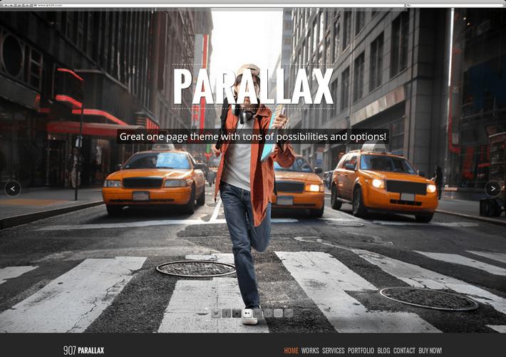 Meilleur Thème WordPress 907 Paralax