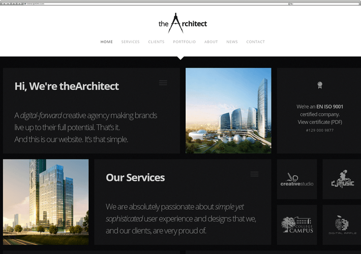 Meilleur Theme WordPress The Architect
