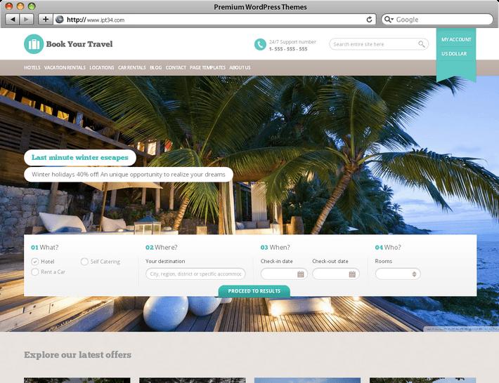 Cr ation de site web montpellier ipt34 th mes for Meilleur site de reservation hotel en ligne