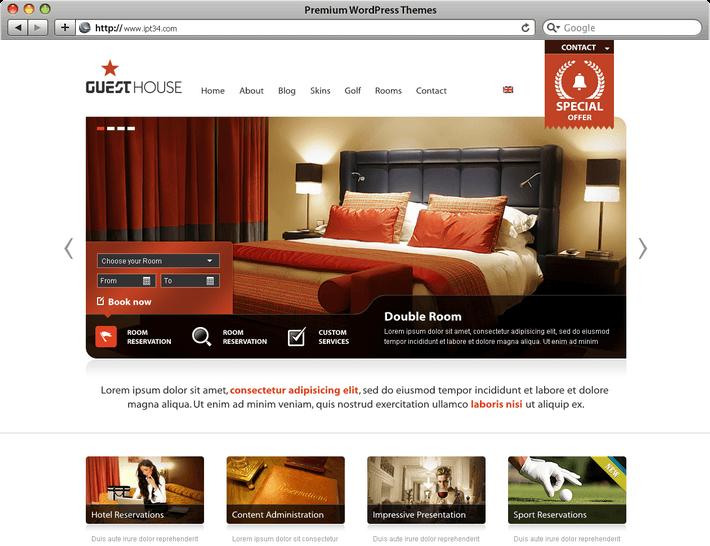 Thème WordPress Guesthouse