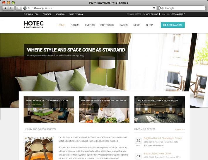 Thème WordPress Hotec
