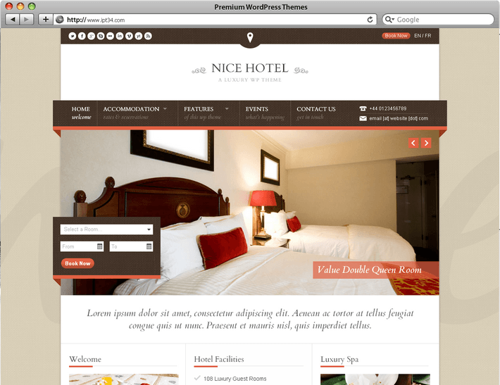 Cr ation de site web montpellier ipt34 th mes for Site pour reserver un hotel