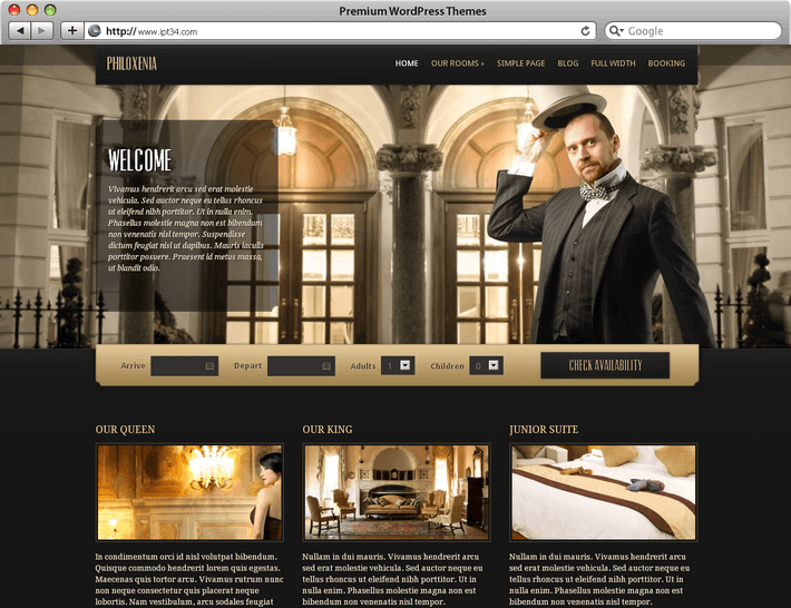 Theme WordPress Philoxenia