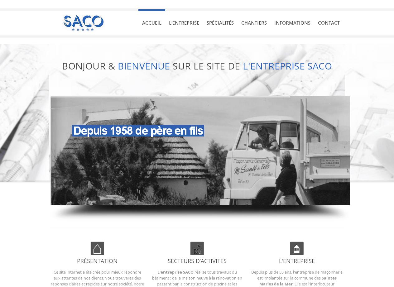 Création du site Saco Construction